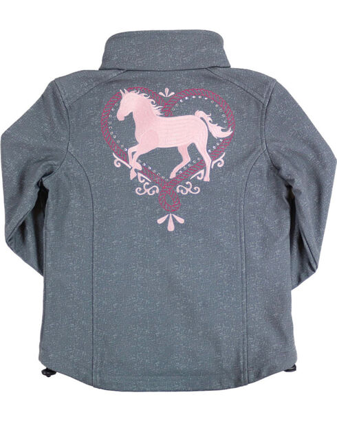 Shyanne® Girls' Sparkle Horse Jacket, Charcoal, hi-res