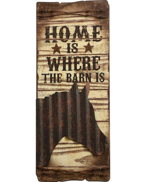 BB Ranch Home is Where the Barn Is Wall Plaque, No Color, hi-res