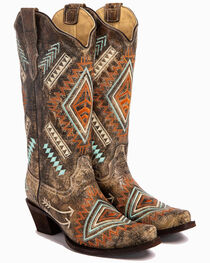 Corral Women's Diamond Embroidered Western Boots, , hi-res