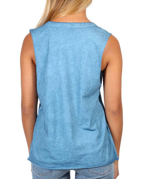 I.O.C. Women's Roam Free Graphic Muscle Tank, Light Blue, hi-res