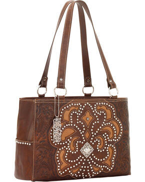 American West Women's Mayflower Purse, Brown, hi-res