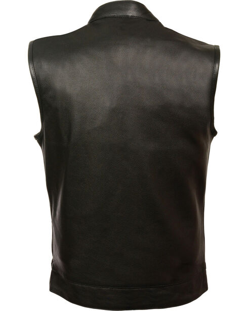 Milwaukee Leather Men's Open Neck Snap/Zip Front Club Vest - 3X, , hi-res