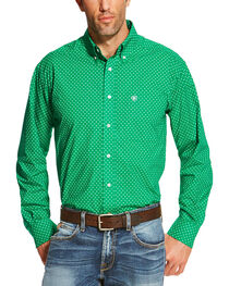 Ariat Men's Square Patterned Button Down Long Sleeve Shirt , , hi-res