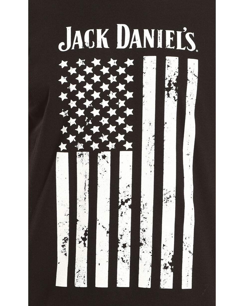 Jack Daniel's Men's Distressed Flag Tee, Black, hi-res