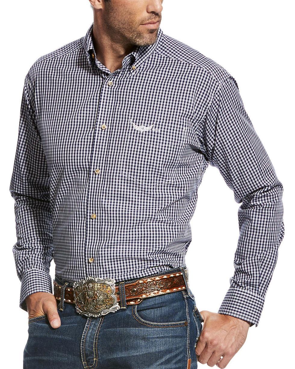 Ariat Men's Navy Champion Long Sleeve Plaid Shirt , Navy, hi-res
