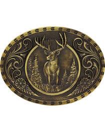 Montana Silversmiths Wild Stag Belt Buckle, , hi-res