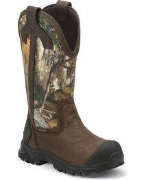 Justin Men's Flashing Camo Work Boots, , hi-res