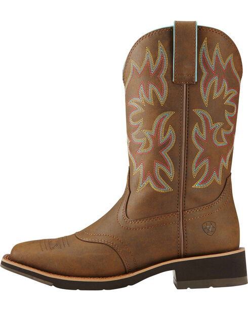 Ariat Women's Delilah Western Boots , Brown, hi-res