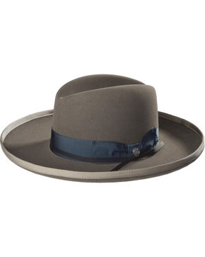 Stetson Men's Grey West Bound B Felt Hat , Grey, hi-res