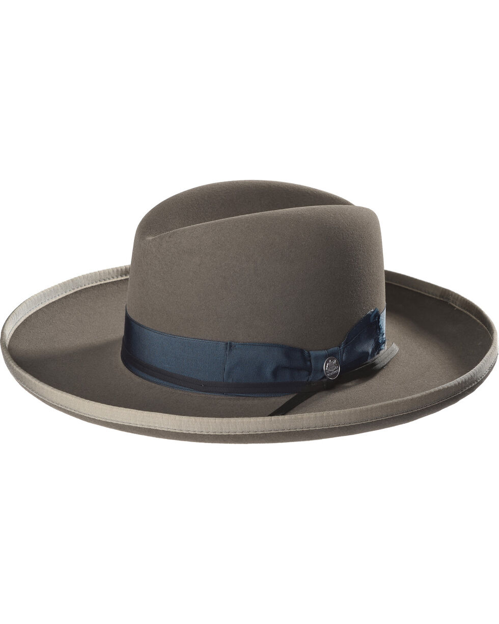 Stetson Men's West Bound B Limited Edition Fur Felt Hat , Grey, hi-res