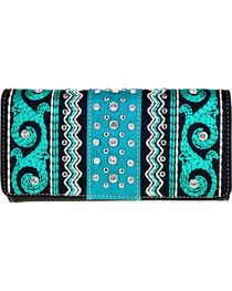 Montana West Women's Boot Scroll Embroidered Wallet, , hi-res
