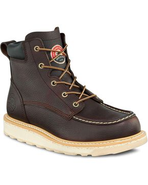 "Irish Setter by Red Wing Shoes Men's Ashby Wedge 6"" Lace-Up Work Boots - Aluminum Safety Toe, Brown, hi-res"