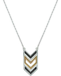Montana Silversmiths Women's Chevron Strength Necklace, , hi-res