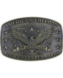 Montana Silversmith's 2nd Amendment Heritage Attitude Buckle, , hi-res