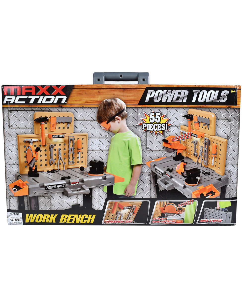 Maxx Action Power Tool Workbench, Black, hi-res