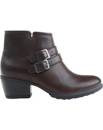 Eastland Women's Brown Stella Strap and Buckle Booties, , hi-res