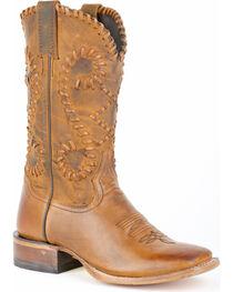 Stetson Women's Saffron Buck Stitch Western Boots, , hi-res