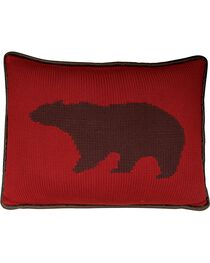 HiEnd Accents Wilderness Ridge Knitted Bear Throw Pillow, , hi-res