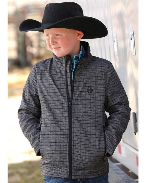 Cinch Boy's Bonded Neon Zip Jacket, Grey, hi-res