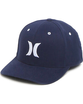 Hurley Men's Embroidered Logo FlexFit Ball Cap, Navy, hi-res