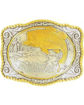 Gold-tone Bass Buckle, Silver, hi-res