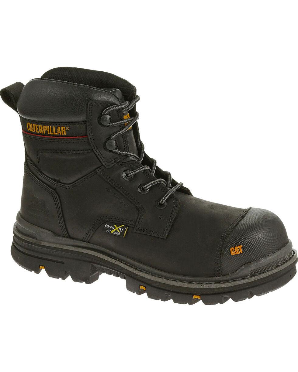 CAT Men's Rasp Metatarsal Guard Waterproof Composite Toe Work Boots, Black, hi-res