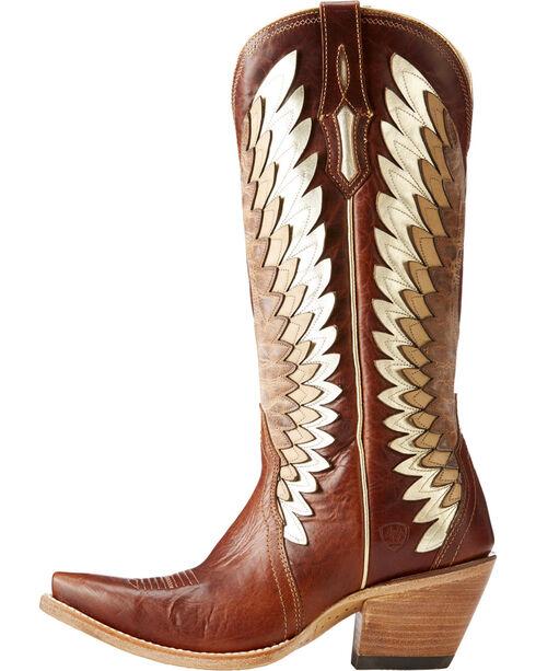 Ariat Women's Cognac Goldcrest Leather Boots - Snip Toe , Cognac, hi-res