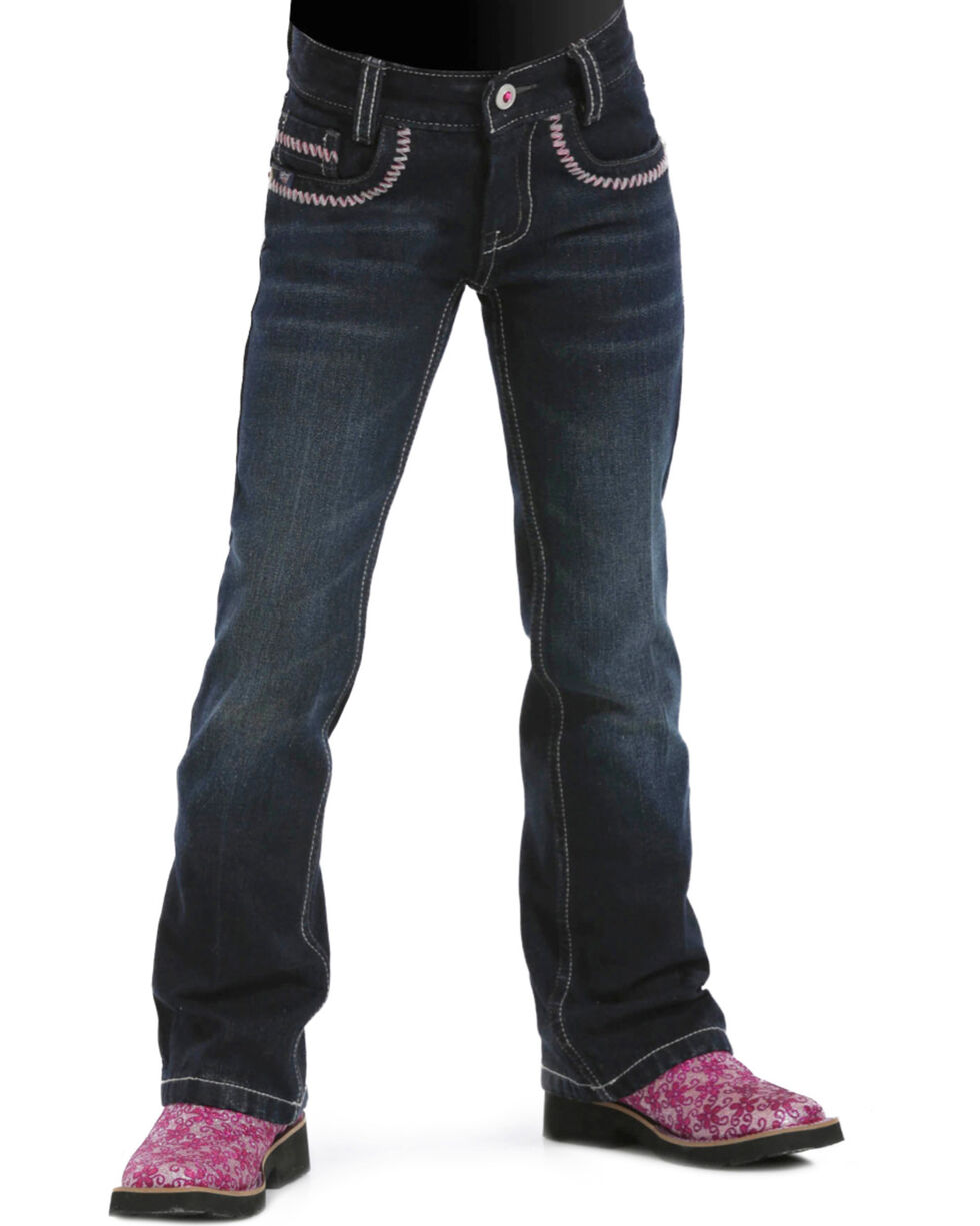 Cruel Girl Girls' Ella Regular Fit Jeans - 4-6X, Dark Denim, hi-res