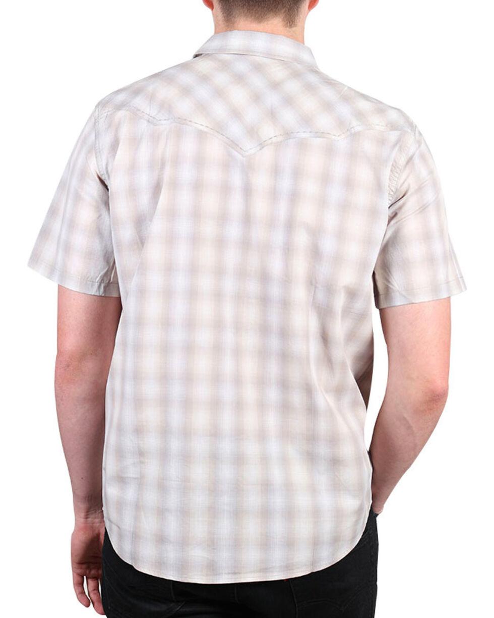Cody James® Men's Salerno Short Sleeve Western Shirt, Khaki, hi-res