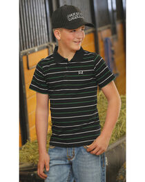 Cinch Boys' Striped Short Sleeve Shirt , , hi-res