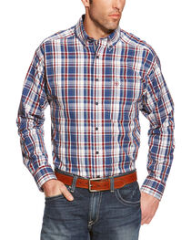 Ariat Patterson Plaid Performance Long Sleeve Shirt, , hi-res