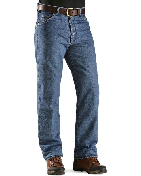 Wrangler Jeans - Rugged Wear Relaxed Fit Flannel Lined, Stonewash, hi-res