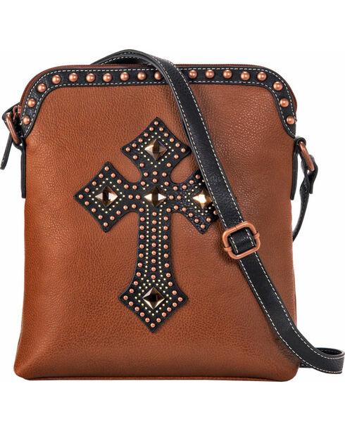 Blazin Roxx Women's Embellished Cross Shoulder Bag, Rust Copper, hi-res