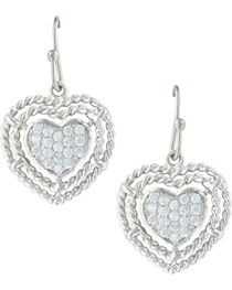 Montana Silversmiths Women's Roped My Heart Earrings , , hi-res