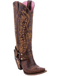 Junk Gypsy by Lane Women's Vagabond Harness Western Boots - Snip Toe, , hi-res