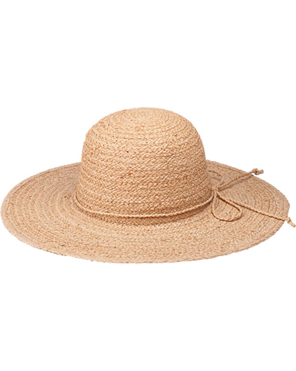 "Peter Grimm Boca Grande 4 1/4"" Natural Raffia Straw Sun Hat, Natural, hi-res"