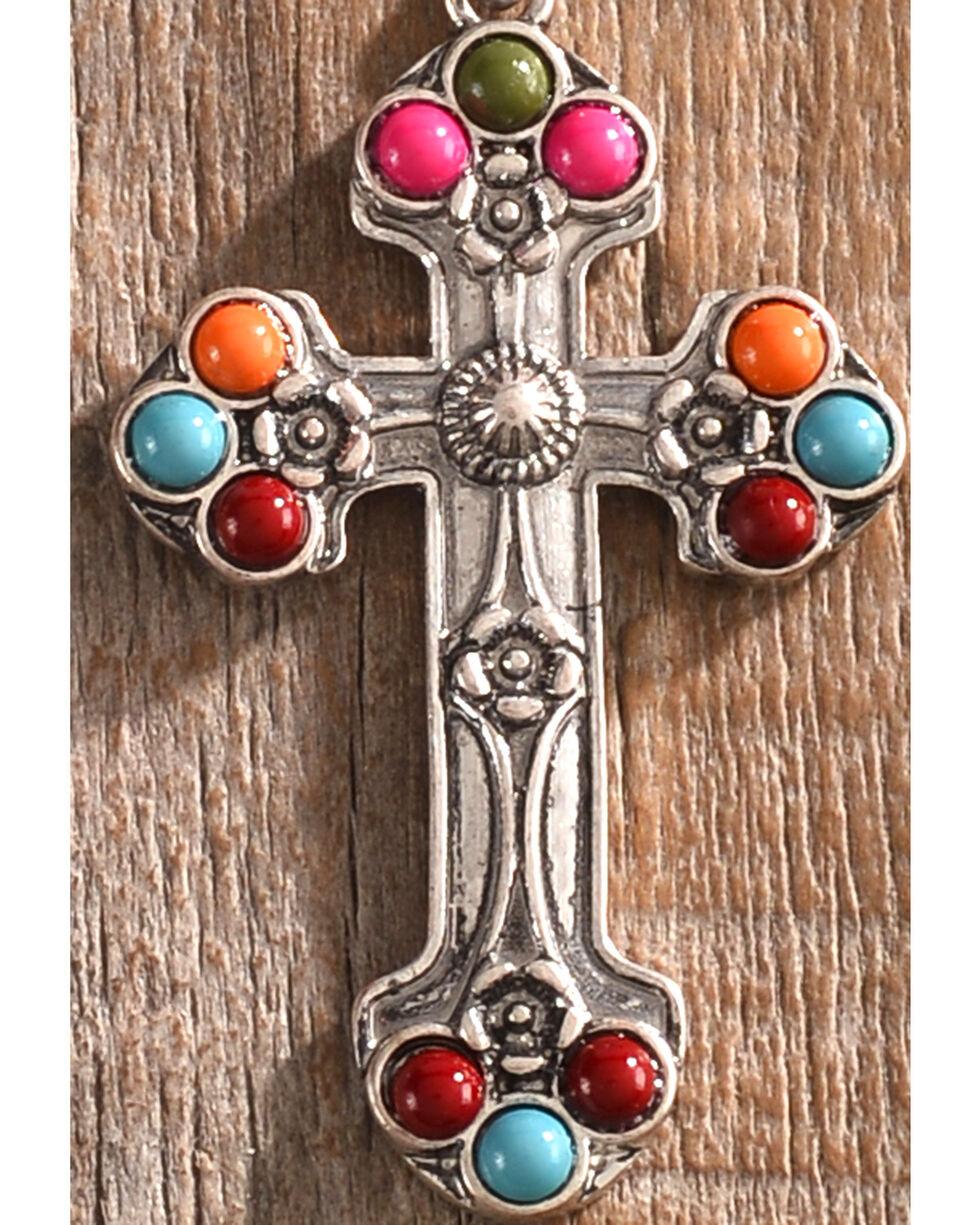 Shyanne Women's Guadalupe Beaded Cross Earrings, Multi, hi-res