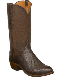 Lucchese Men's Nathan Smooth Ostrich Leather Western Boots - Round Toe, , hi-res