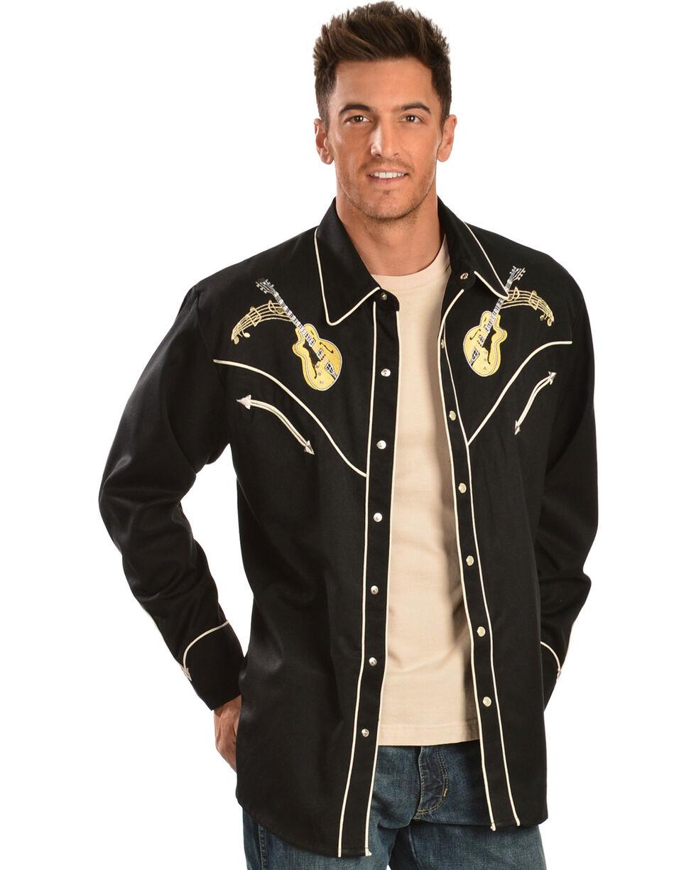 Scully Men's Rock N' Roll Western Shirt, Black, hi-res