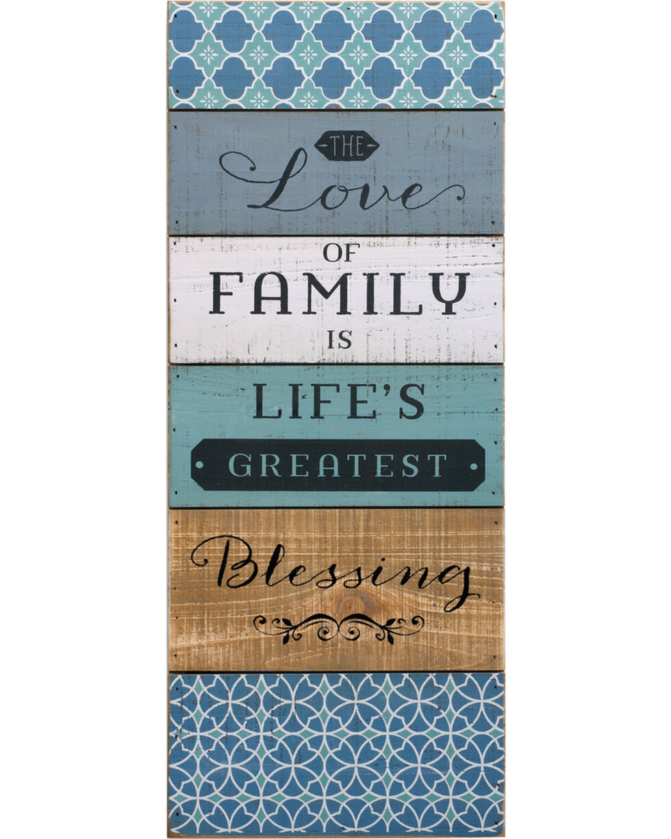 Demdaco Love of Family Wall Art, Blue, hi-res