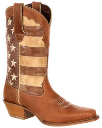 Durango Women's Distressed Flag Western Boots, , hi-res