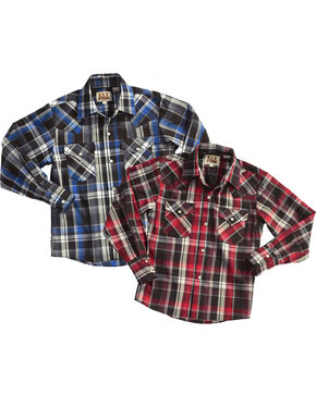 Ely Cattleman Men's Lurex Long Sleeve Plaid Shirt , Multi, hi-res