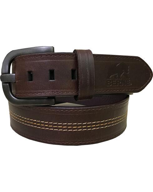 Berne Men's Brown Genuine Leather Belt , Brown, hi-res