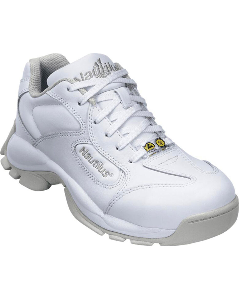 Nautilus Women's Steel Safety Toe Athletic Work Shoes, White, hi-res
