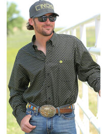 Cinch Men's Printed Button Down Long Sleeve Shirt, , hi-res