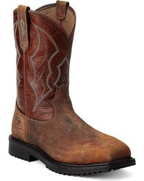Ariat Men's RigTek Wide Square Toe CT Work Boots, , hi-res