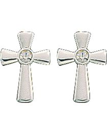 Montana Silversmiths Rhinestone Cross Earrings, , hi-res