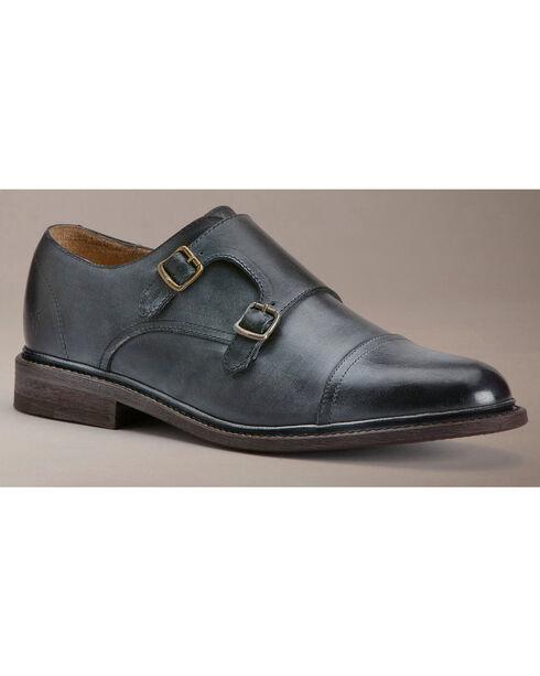 Frye Men's James Double Monk Shoes, Black, hi-res