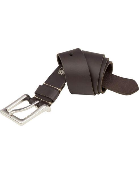 Timberland Men's Leather Saddle Belt , Dark Brown, hi-res