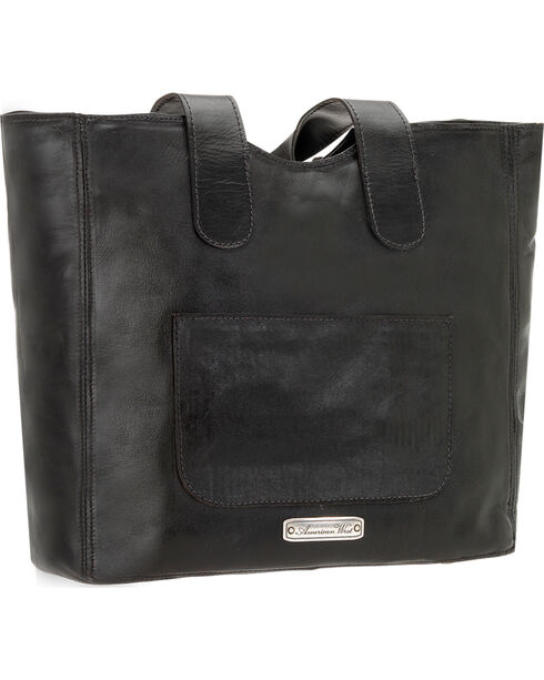 American West Women's Mohave Canyon Large Zip Top Tote, Black, hi-res
